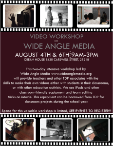 TDP FILM WORKSHOP FLYER